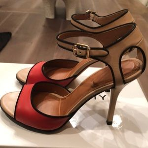 Givenchy color block sandals 39.5